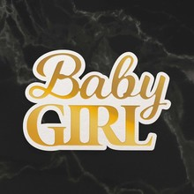 Couture Creations Baby Girl Sentiment Mini Cut, Foil & Emboss Die (CO726715)