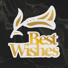 Couture Creations Best Wishes Sentiment Mini Cut, Foil & Emboss Dies (CO726716)