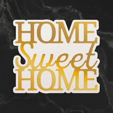 Couture Creations Home Sweet Home Sentiment Mini Cut, Foil & Emboss Die (CO726728)