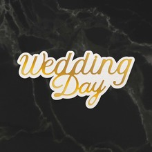Couture Creations Wedding Day Sentiment Mini Cut, Foil & Emboss Die (CO726730)