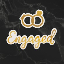 Couture Creations Engaged Sentiment & Rings Mini Cut, Foil & Emboss Dies (CO726740)
