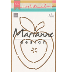 Marianne Design Masking Stencil Apple by Marleen (PS8013)
