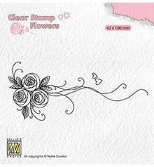 Nellie Snellen Bouquet Roses 1 Clear Stamp (FLO020)