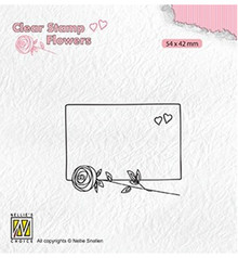 Nellie Snellen Frame With Rose Clear Stamp (FLO024)