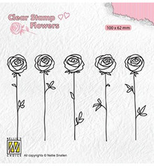 Nellie Snellen Roses Clear Stamp (FLO025)