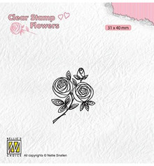Nellie Snellen Rose Twig Clear Stamp (FLO026)