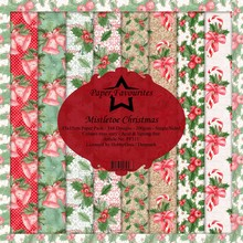 Paper Favourites Mistletoe Christmas 6x6 Inch Paper Pack (PF111)