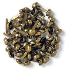 Doodlebug Design Inc. Antique Brass Mini Brads (25pcs) (100)