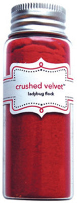 Doodlebug Design Inc. Ladybug Crushed Velvet Flock (1788)