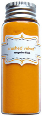 Doodlebug Design Inc. Tangerine Crushed Velvet Flock (1789)