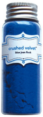 Doodlebug Design Inc. Blue Jean Crushed Velvet Flock (1793)