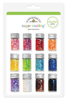 Doodlebug Design Inc. Chunky Sugar Coating Glitter Assortment (12pcs) (2049)