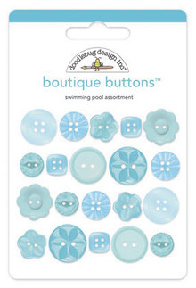 Doodlebug Design Inc. Swimming Pool Boutique Buttons (20pcs) (2476)