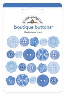 Doodlebug Design Inc. Blue Jean Boutique Buttons (20pcs) (2477)