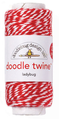 Doodlebug Design Inc. Ladybug Doodle Twine (2988)