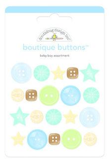 Doodlebug Design Inc. Baby Boy Boutique Buttons (20pcs) (3216)