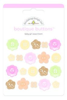 Doodlebug Design Inc. Baby Girl Boutique Buttons (20pcs) (3217)