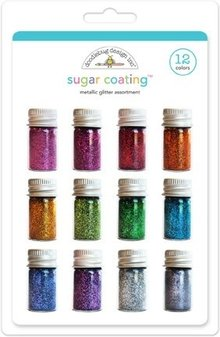 Doodlebug Design Inc. Sugar Coating Metallic Glitter Assortment (12pcs) (3353)
