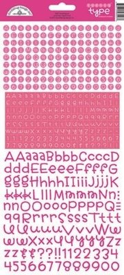 Doodlebug Design Inc. Bubblegum Teensy Type Stickers (3427)