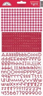 Doodlebug Design Inc. Ladybug Teensy Type Stickers (3428)