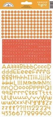 Doodlebug Design Inc. Tangerine Teensy Type Stickers (3429)