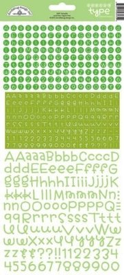 Doodlebug Design Inc. Limeade Teensy Type Stickers (3431)