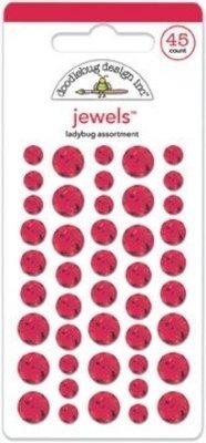 Doodlebug Design Inc. Ladybug Jewels (45pcs) (3504)