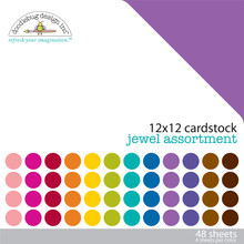 Doodlebug Design Inc. Jewel 12x12 Inch Textured Cardstock Pack (3589)