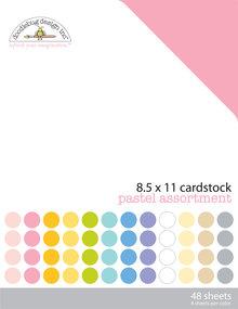 Doodlebug Design Inc. Pastel 8.5x11 Inch Textured Cardstock Pack (3594)