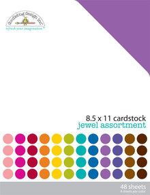 Doodlebug Design Inc. Jewel 8.5x11 Inch Textured Cardstock Pack (3595)