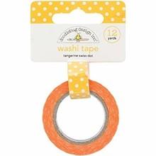 Doodlebug Design Inc. Tangerine Swiss Dot Washi Tape (3651)