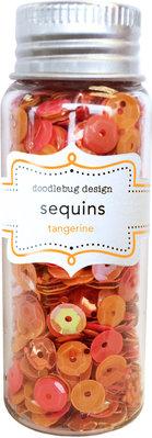 Doodlebug Design Inc. Tangerine Sequins (4259)
