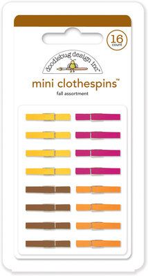 Doodlebug Design Inc. Fall Mini Clothespins (16pcs) (4436)