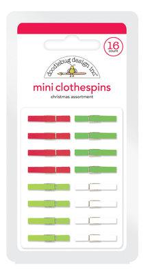 Doodlebug Design Inc. Christmas Mini Clothespins (16pcs) (4437)
