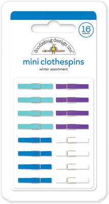 Doodlebug Design Inc. Winter Mini Clothespins (16pcs) (4438)
