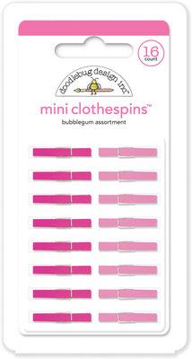 Doodlebug Design Inc. Bubblegum Mini Clothespins (16pcs) (4440)