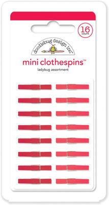 Doodlebug Design Inc. Ladybug Mini Clothespins (16pcs) (4441)