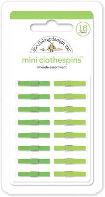 Doodlebug Design Inc. Limeade Mini Clothespins (16pcs) (4444)