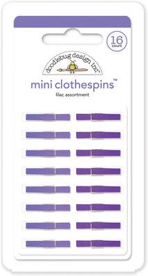 Doodlebug Design Inc. Lilac Mini Clothespins (16pcs) (4447)