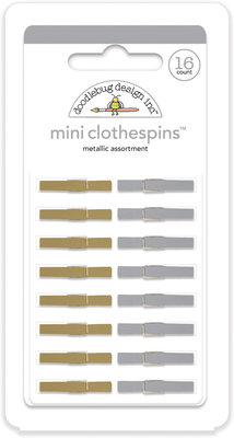 Doodlebug Design Inc. Metallic Mini Clothespins (16pcs) (4450)