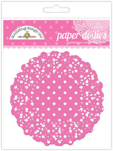 Doodlebug Design Inc. Bubblegum Polka Dot Doilies (75pcs) (4464)
