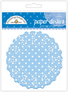 Doodlebug Design Inc. Blue Jean Polka Dot Doilies (75pc) (4470)