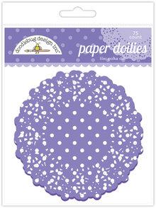 Doodlebug Design Inc. Lilac Polka Dot Doilies (75pcs) (4471)