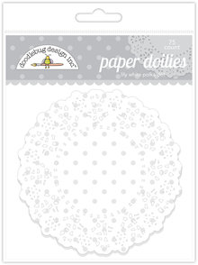 Doodlebug Design Inc. Lily White Polka Dot Doilies (75pcs) (4472)