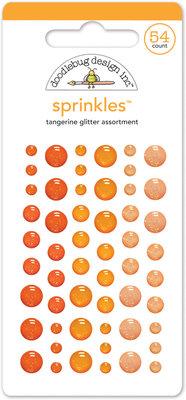 Doodlebug Design Inc. Tangerine Glitter Sprinkles (54pcs) (4536)