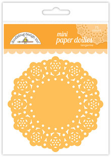 Doodlebug Design Inc. Tangerine Mini Doilies (75pcs) (4599)