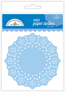 Doodlebug Design Inc. Blue Jean Mini Doilies (75pcs) (4603)