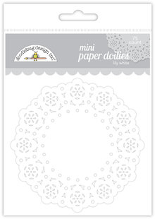 Doodlebug Design Inc. Lily White Mini Doilies (75pcs) (4605)