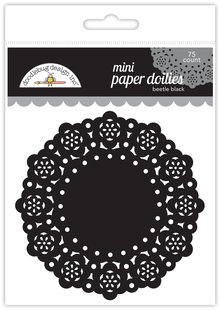 Doodlebug Design Inc. Beetle Black Mini Doilies (75pcs) (4607)