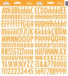 Doodlebug Design Inc. Tangerine Skinny Stickers (4719)